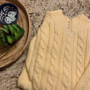 VSCO sweater with pearl buttons
